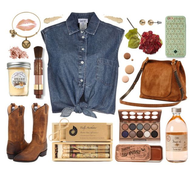 """Little bit of western"" by alzbeta-zlochova on Polyvore featuring Bobbi Brown Cosmetics, Jean-Paul Gaultier, Frye, SO, Alex and Ani, NYX, Truly Aesthetic, Lumière, Lancôme and Tory Burch"