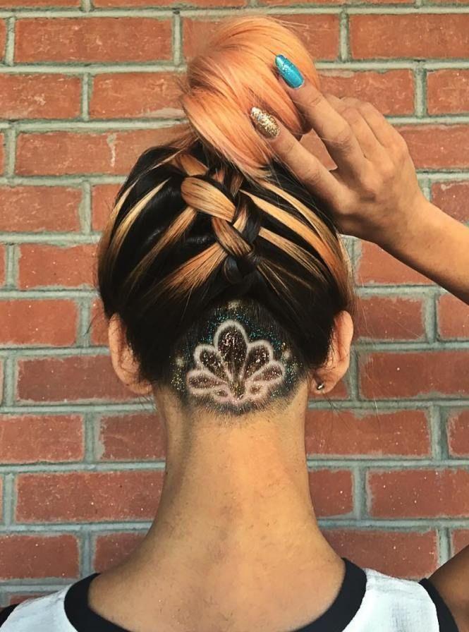 mandala undercut hair