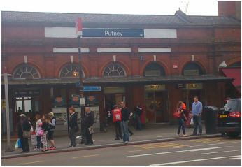 Putney Railway Station at the top of Putney High Street is on the boundary of Travelcard Zone 2 and Zone 3. The station and all trains serving it are operated by South West Trains. It has four platforms and is about half a kilometre from East Putney tube station.  Putney Station is one of the busiest suburban commuter stations in London. More than 11 million people used the station in 2012-13, making it busier than the stations of several large cities.