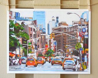 Autobus scolaire New York transport Art New York Art mural