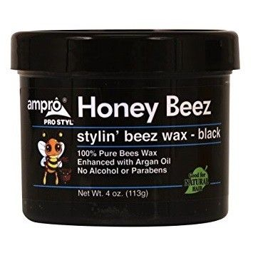 Ampro Pro Styl Honey Beez Stylin' Beez Wax - Black 4 oz $2.25   Visit www.BarberSalon.com One stop shopping for Professional Barber Supplies, Salon Supplies, Hair & Wigs, Professional Products. GUARANTEE LOW PRICES!!! #barbersupply #barbersupplies #salonsupply #salonsupplies #beautysupply #beautysupplies #hair #wig #deal #promotion #sale #ampro #honeybeez #wax #black