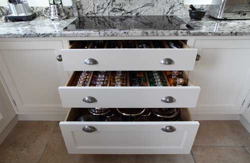 Soft close drawers at John Ladbury and Company