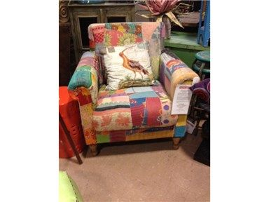 Shop For The Loft Vintage Kantha Patchwork Quilt Arm Chair, And Other Chairs  At Woodstock Furniture In Acworth And Hiram Georgia.