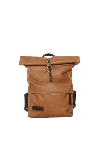 Lowell leather roll-up backpack