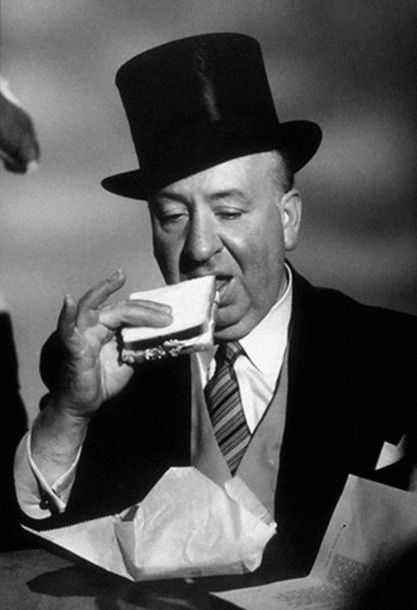 'Alfred Hitchcock eating a sandwich in A. Hitchtcock presents 1st season - The Derelicts, 1956'