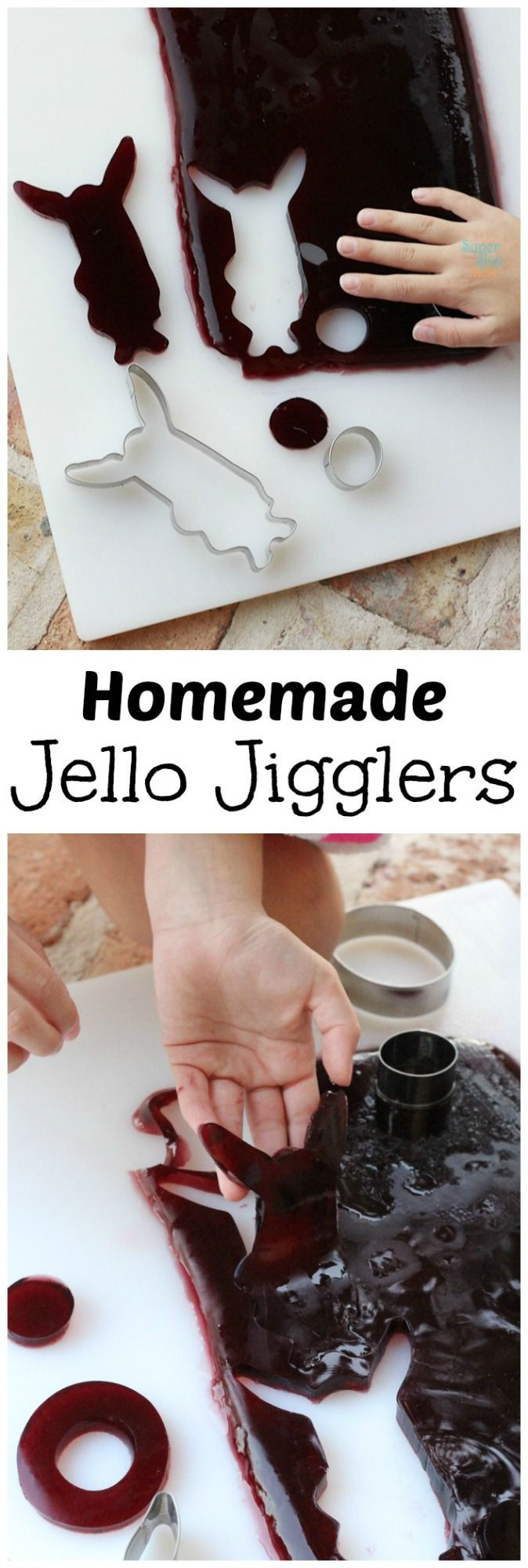 This healthy version of homemade jello jigglers recipe will rock your kid's world! Only two ingredients you can actually pronounce.