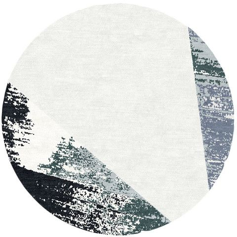 Circlet Snow Modern Circle Rug Design Kush Handmade Rugs In Portland Or