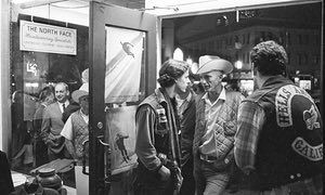 The opening of the first North Face shop in San Francisco, 1966.