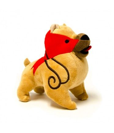 SO.  ADORABLE. (Mabari [from the Dragon Age franchise] Plush from the Bioware Store)