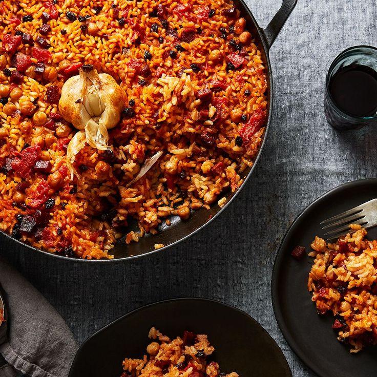 Smoky Baked Rice with Chorizo & All the Garlic (No Peeling, Chopping, Mess) on Food52