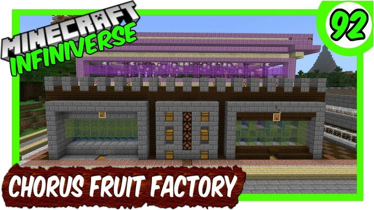 """Redstone Chorus Fruit Farm"" [92] Minecraft Bedrock"