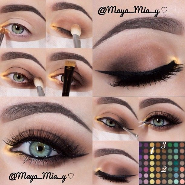 .@maya_mia_y | Smokey brown with a pop of gold using the 252 Ultimate Palette by Coastal Sce... | Webstagram - the best Instagram viewer