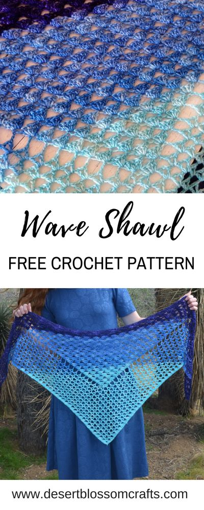 Learn to make this extremely easy crochet shawl, with a FREE Pattern! Only 2 sti…