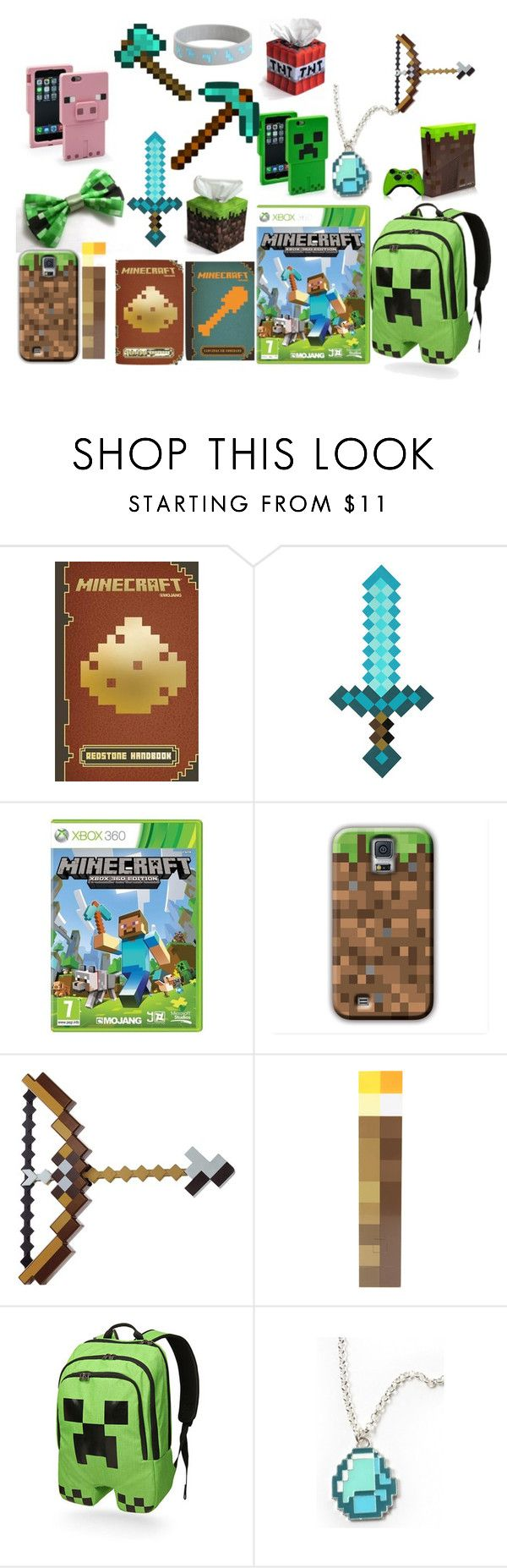 """""""I Love MINECRAFT"""" by sahara2313 ❤ liked on Polyvore featuring Redstone and ThinkGeek"""