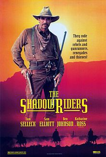 The Shadow Riders (3.5 stars) A straight-forward western set at the end of the Civil War, though other than brothers fighting on opposite sides, it has nothing to do with the war. This was made for TV, so the production values are what you'd expect. Selleck and Elliott were made for westerns - very believable. Witty adventure I enjoyed.
