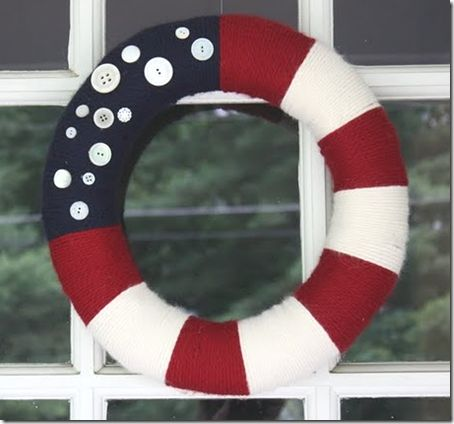 This wreath will be on my door next 4th of July!4Thofjuly, Fourth Of July, Red White Blue, Summer Wreaths, Patriots Wreaths, Front Doors, 4Th Of July, Independence Day, Yarns Wreaths