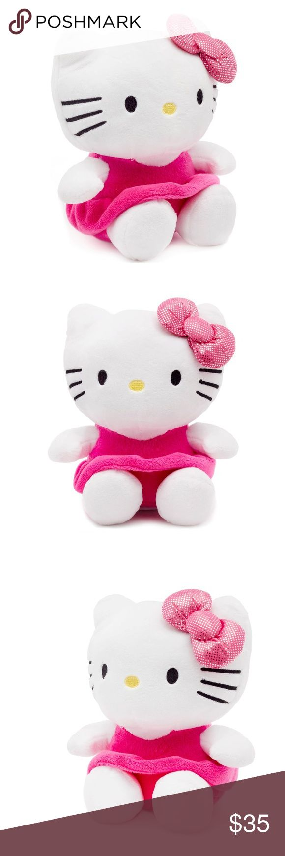 🎀Hello Kitty🎀 Coin Bank Get your little one excited about saving money with the Hello Kitty Piggy Bank. It features a coin slot on the back for easy insertions. The plastic stopper at the bottom allows it to be placed safely on a flat surface. For added cuteness, the Hello kitty wears a pink dress and a cute bow. This plush piggy bank will not only let your little princess' save money, but will also make for a decorative piece in her room. Hello Kitty Accessories