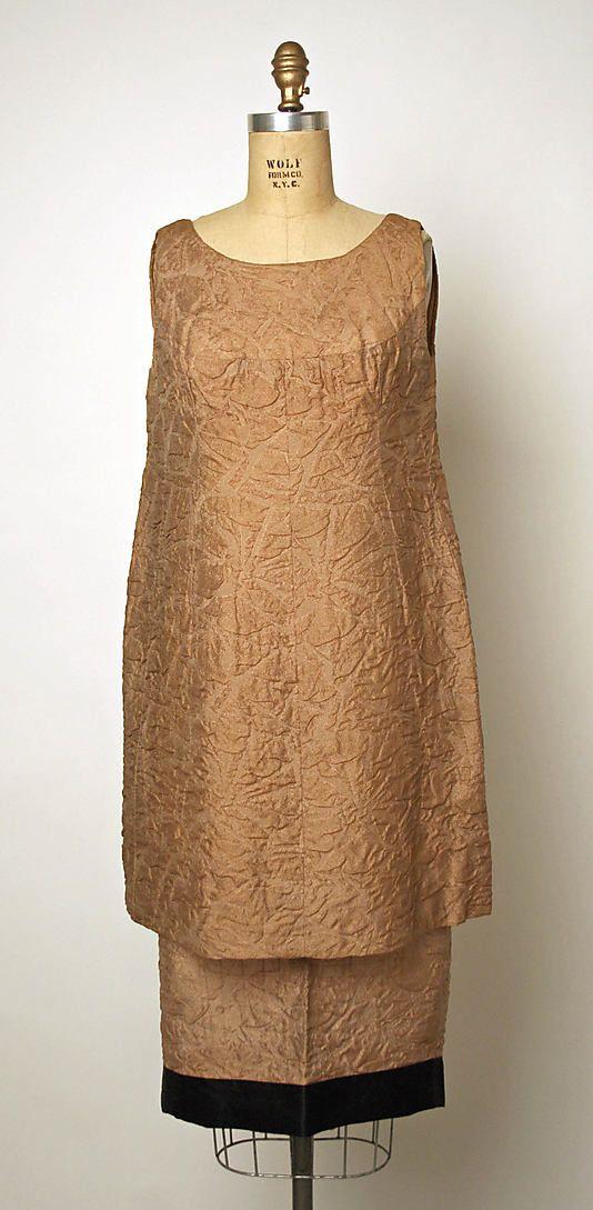 Evening Dress, French, House of Balenciaga - Cristobal Balenciaga ca. 1960, silk