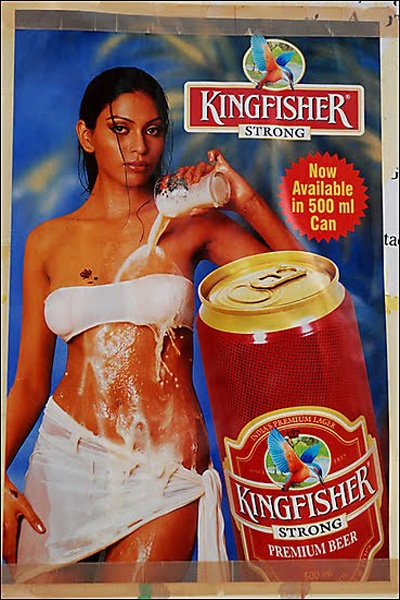 Kingfisher Beer Sexy ad - Kingfisher in India's largest selling beer. Guess it's more than just for drinking!!