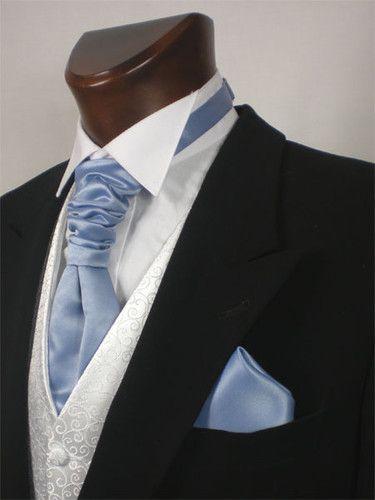 Formal Tailor Periwinkle Blues Wedding Scrunchie Satin