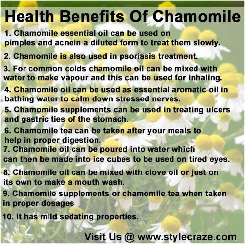 camomile tea for skin