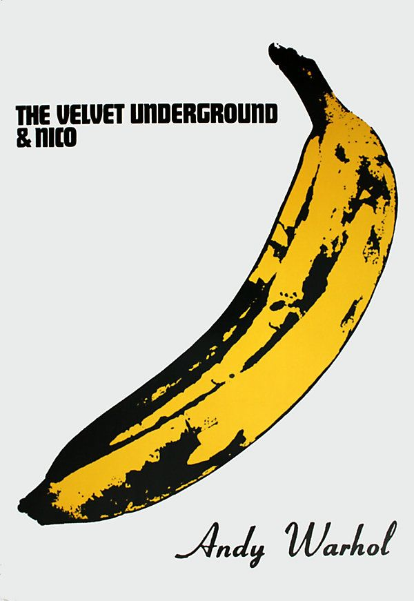Vintage Print - Straight out of the Sixties - Warhol - The Velvet Underground - Yellow - Banana