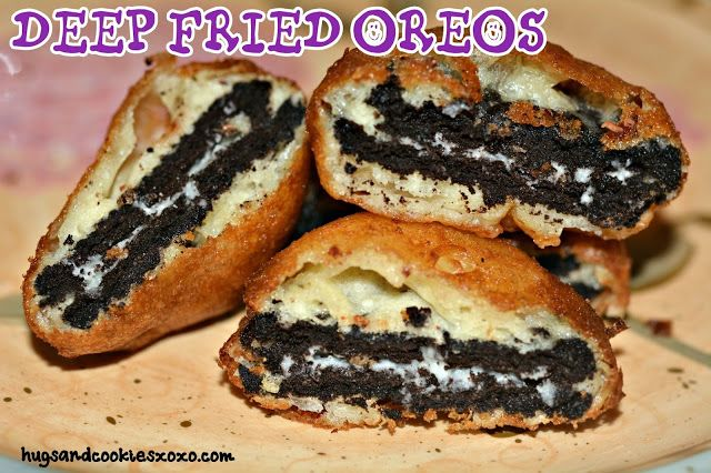 Who needs to wait for the fair to enjoy deep fried treats! Bring the fair home! oil for frying 1 egg 1 cup milk 2 teaspoons oil 1 1/2 cups pancake mix (add more if too thin) Oreos, candy bars of choice! Heat oil for frying. Mix egg, milk, oil and pancake mix until smooth …