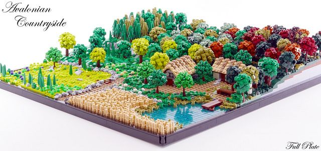 Lego Mocs Micro ~ Avalonian Countryside (9 of 9)   by Emil Lidé
