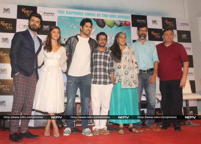 The entire cast - Fawad Khan, Alia, Sidharth Malhotra, Ratna Pathak Shah, Rajat Kapoor and Rishi Kapoor - and director Shakun Batra were in attendance.