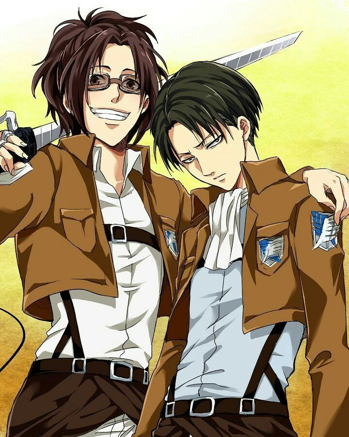 Levi Ackerman and Hanji Zoe