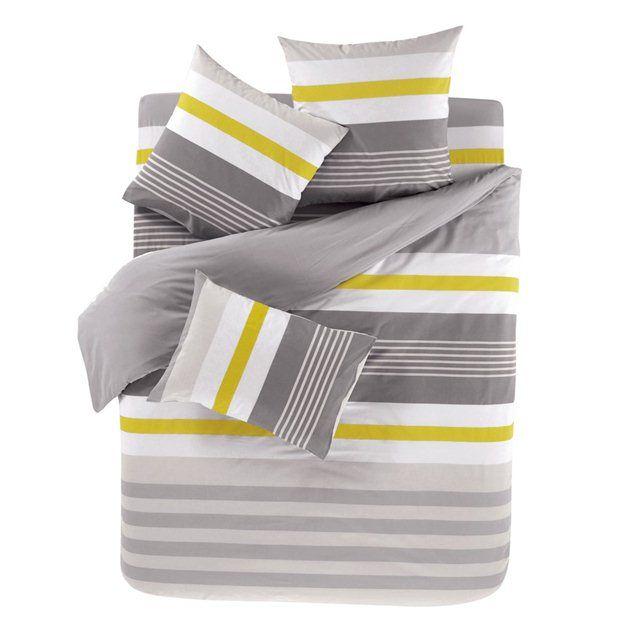 RYTHME Grey Duvet Cover and Oblong Pillowcase(s) Set