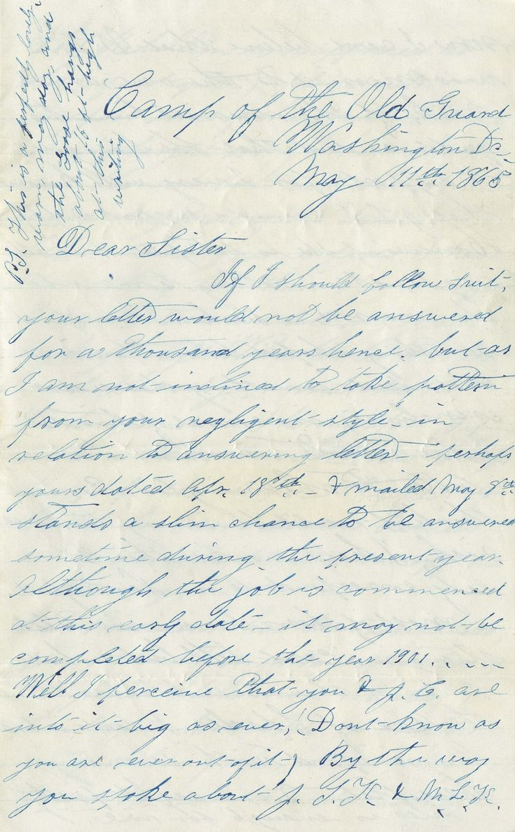 letter written by william h white from camp of the old grand washington