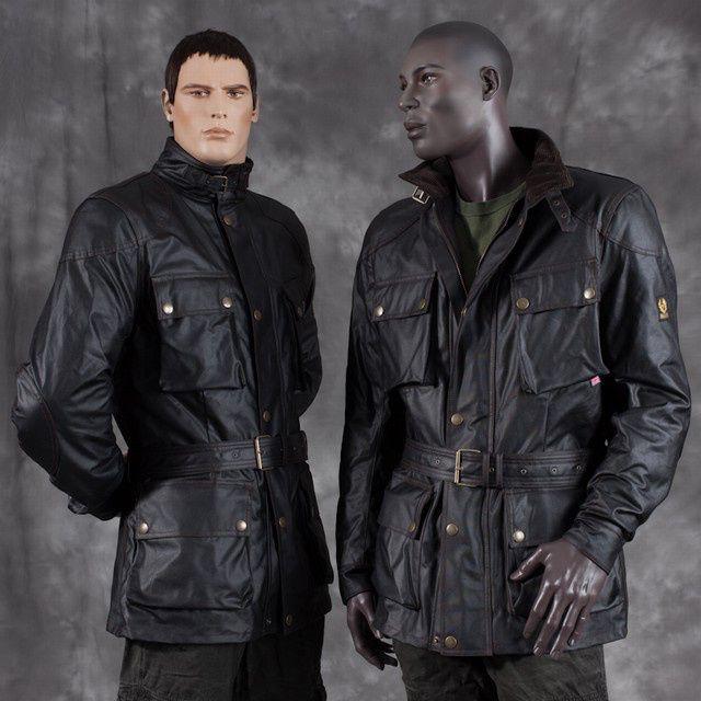 Belstaff Knockhill Vintage Leather Jackets Black