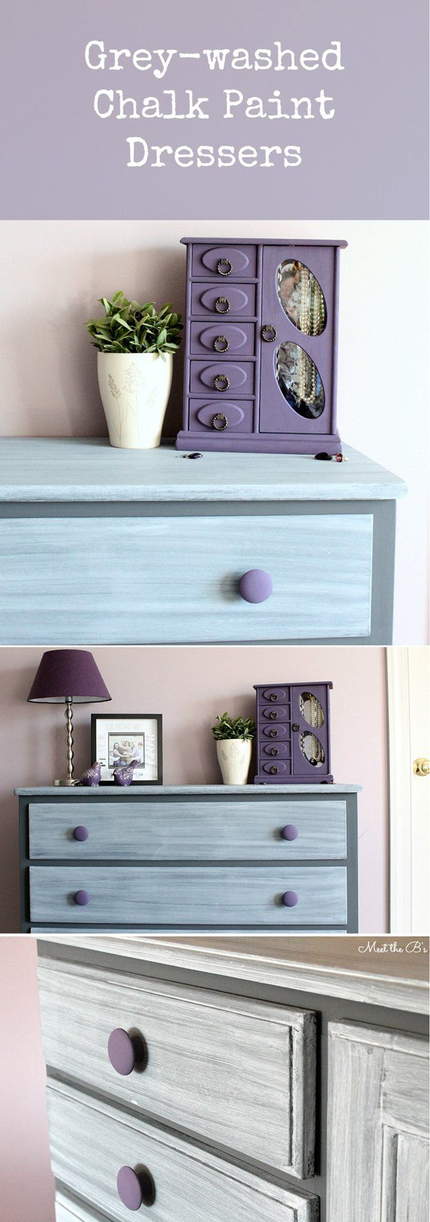 DIY Before and After Dresser Chalk Paint Makeover by DIY Ready at http://diyready.com/16-more-diy-chalk-paint-furniture-ideas/