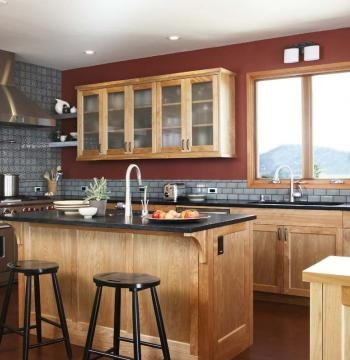 78 images about l shaped kitchen on pinterest islands for Country living light mahogany kitchen island