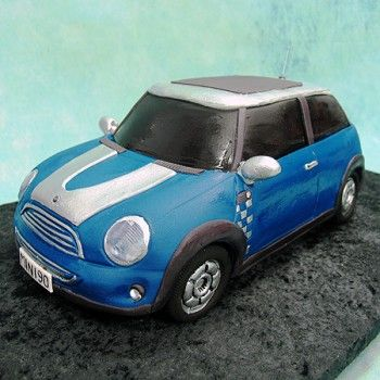 Mini Cooper Cake - Cars - 3D Cakes