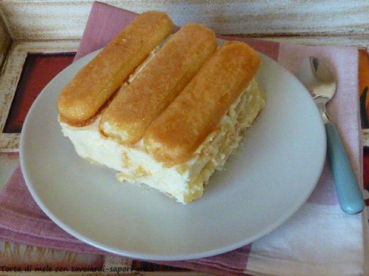 Torta di mele con savoiardi   Sapori Greci e Mediterranei