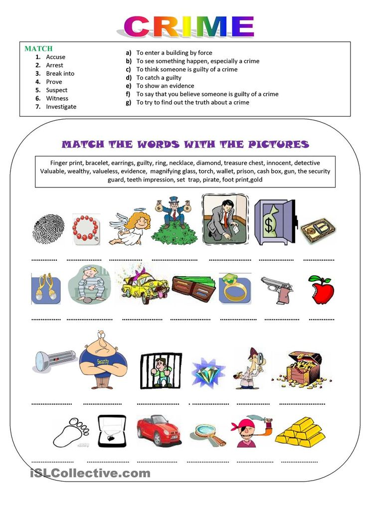 Fun Vocabulary Worksheets : Best crime images on pinterest printable