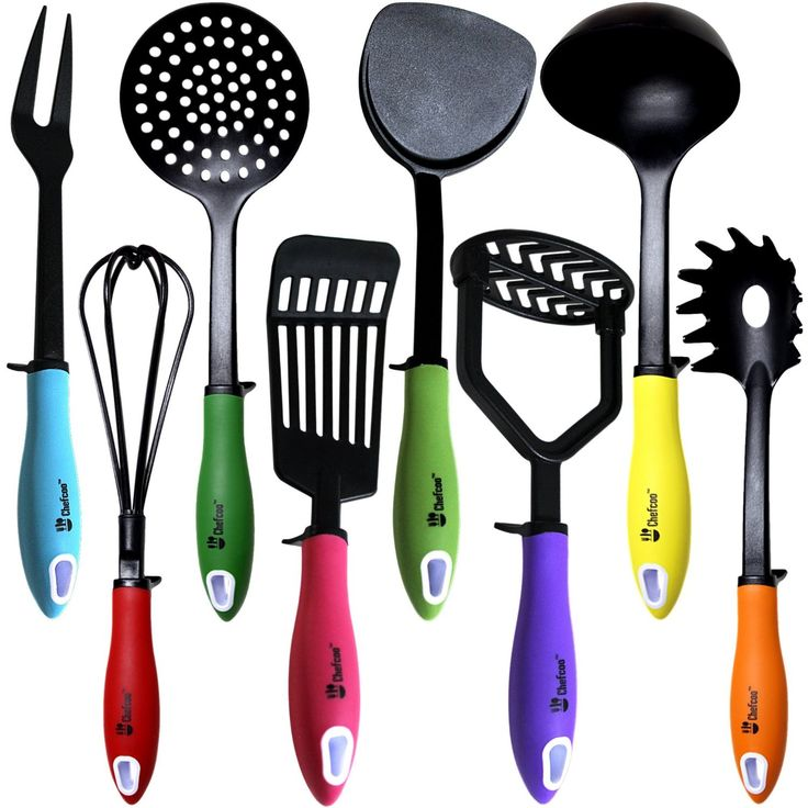 Kitchen Utensils Cooking Set By Chefcoo™ Includes 8 Pieces Non Stick  Cookware Gadgets
