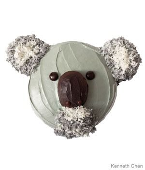 Koala Birthday Cake Design- I'm thinking that my favorite baker, Hayley Thomas may be able to dominate this!  Hint, hint....  :)