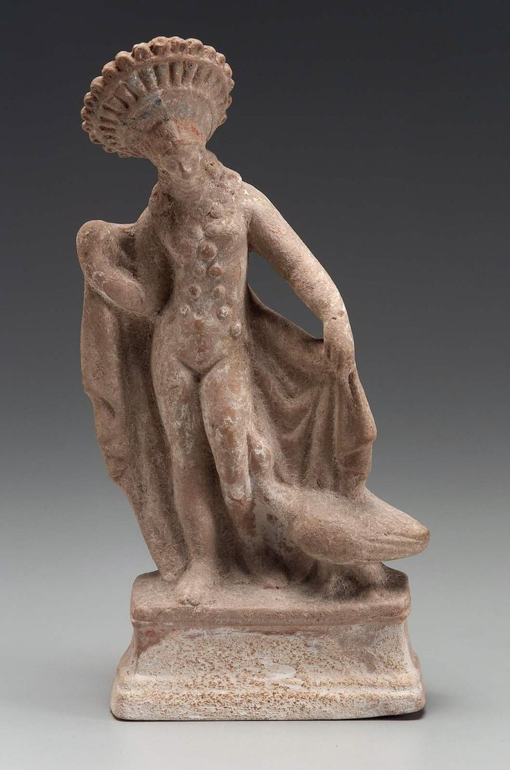 Aphrodite With a Goose  Greek, East Greek, Hellenistic Period, 1st century B.C.  PLACE OF MANUFACTURE  Myrina, Aeolis, Asia Minor