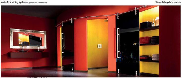 VARIO MWE - Фурнитура из нержавеющей стали для дверей раздвижных и распашных, душевые кабины и петли, библиотечные передвижные лестницы. ALFA-Design - фурнитура MWE в Москве