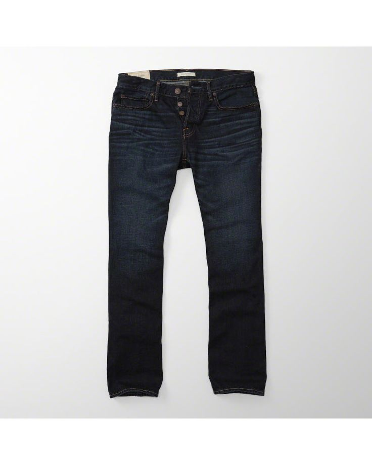 A&F Men's Bootcut Jeans in Blue - Size 33 X 32