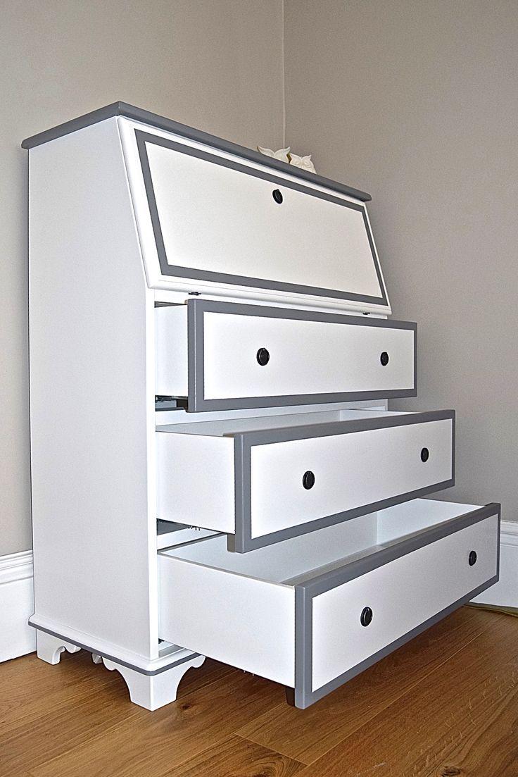 Contemporary Bureau- Media Cabinet/ Audio/CD unit. Bespoke furniture by 'Gill Martinez' www.gillmartinez.com Manchester, England.