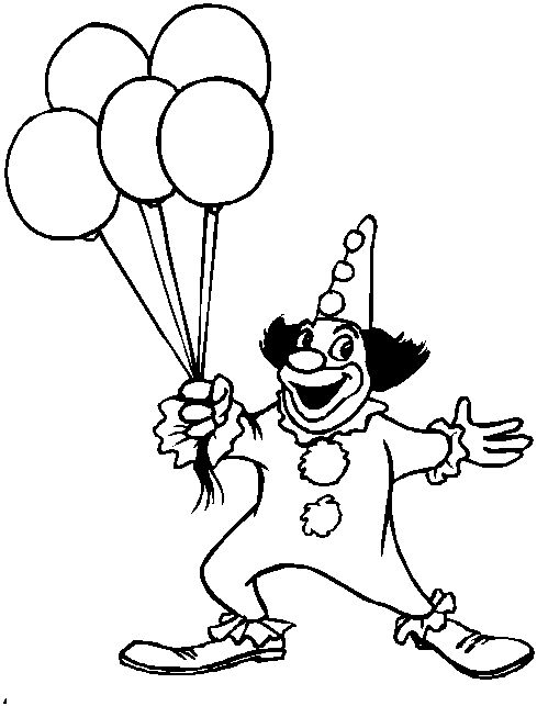 253 best circus carnival carousel coloring images on pinterest ... - Clown Balloons Coloring Page