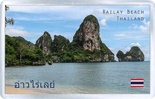 Acrylic Fridge Magnet: Thailand. Railay Beach