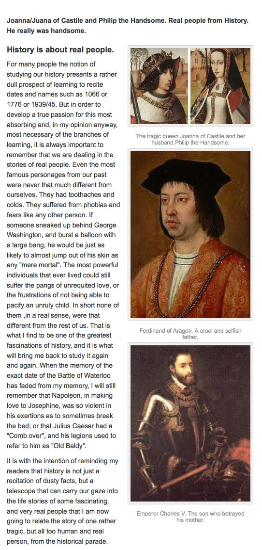 One of the saddest true stories of Real People in History. The life of Joanna/Juana of Castile. (Joanna/Juana the Mad).