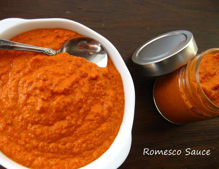 Salmon With Deconstructed Romesco Sauce Recipe — Dishmaps