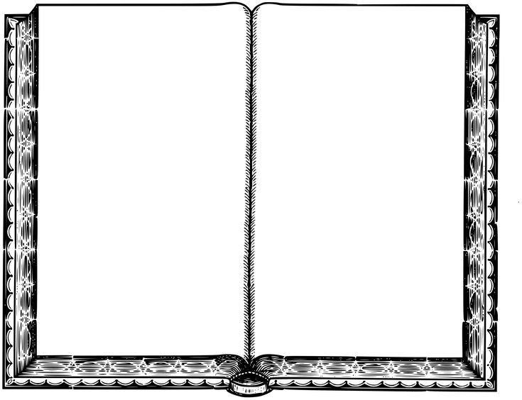 Blank book by @Firkin, A blank book with pages waiting to be filled with something. From a drawing in ''The Tourists' Guide through the Hawaian Islands', Henry Whitney, 1890., on @openclipart