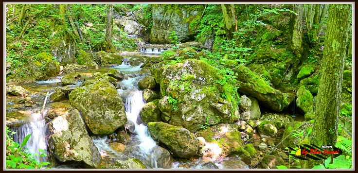 Mixnitz bach, Steiermark, Österreich, Nikon Coolpix L310, 4.5mm, 1/25s, ISO200, f/3.1, panorama mode: segment 2, HDR-Art photography, 20150530